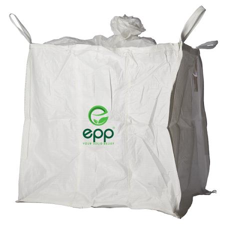 EPP baffle bulk bag with filling skirt and discharge bottom