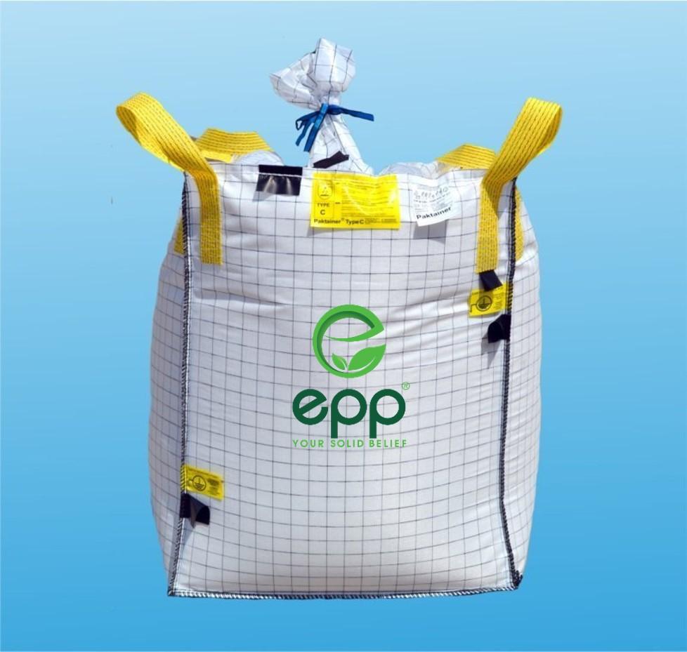 Top supplier in Vietnam heavy duty forms table dustproof Woven Polypropylene Bags PE liner ISO bulka bag 1m3 conductive type CFIBC bag