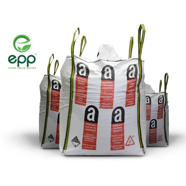 Asbestos Bulk Bags Bulk Asbestos Waste Bags Asbestos Bulk Bag & Bags for Hazardous Material UN approved asbestos bulk bags Asbestos Bag nasbestos removal bags
