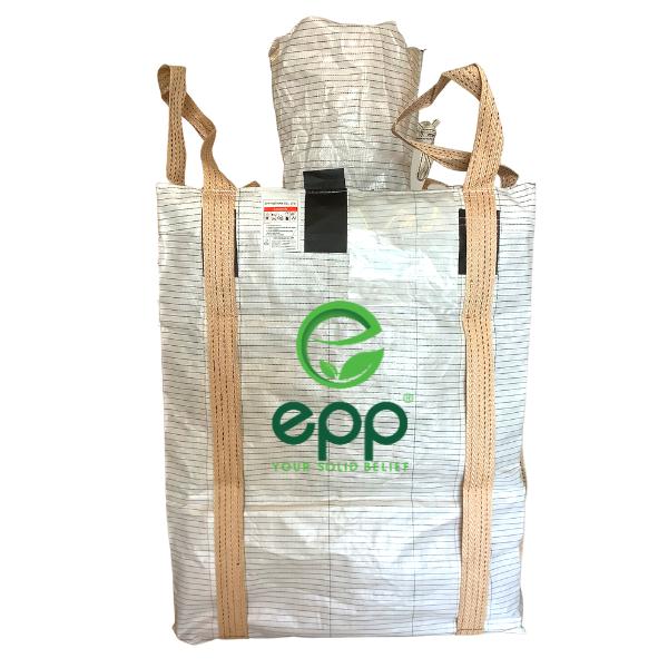 Bulka bag bulk bag sharp sand 1 Cubic meter Type C bulk bags for flammable powders antistatic PP woven sacks conductive Jumbo bag type c big bags