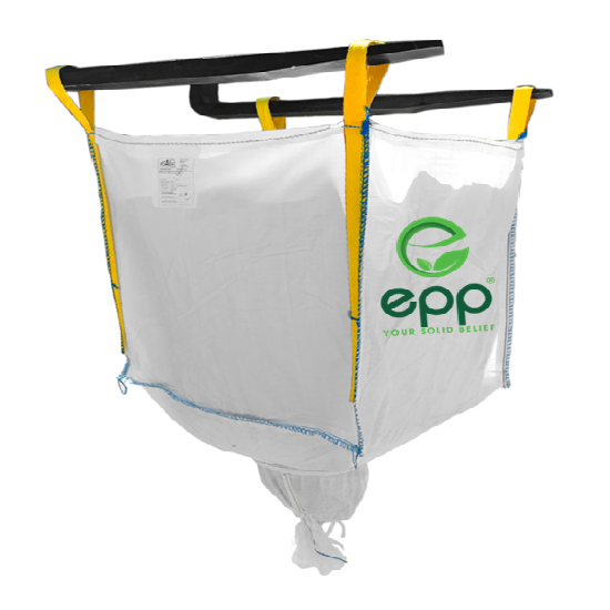 EPP tubular big bag with open top and discharge bottom