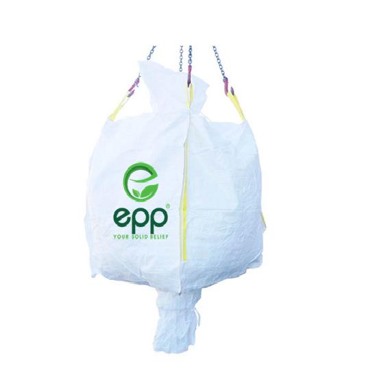EPP tubular FIBC bag with duffle top and discharge bottom