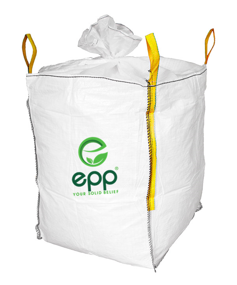 EPP Vietnam 500kg 1000kg 2000kg loading weight tubular jumbo FIBC bag with filling skirt for grain