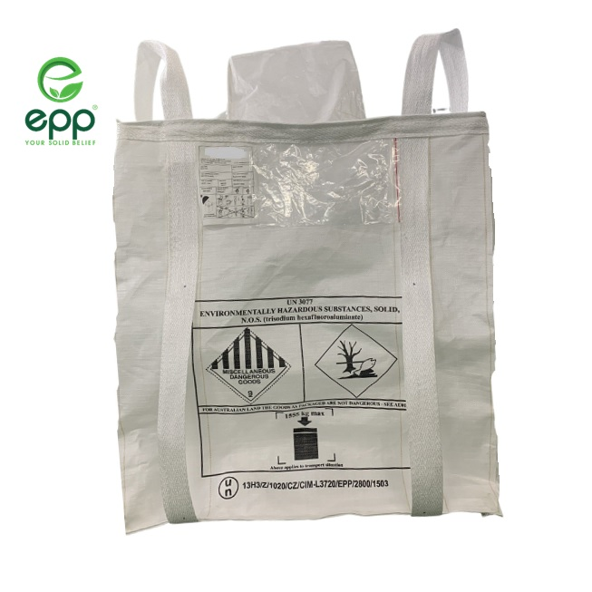 Leading supplier in Vietnam for Baffled type UN jumbo bag for Flammable solids PP woven bags 1 ton 1.5 ton 2 ton FIBC bag