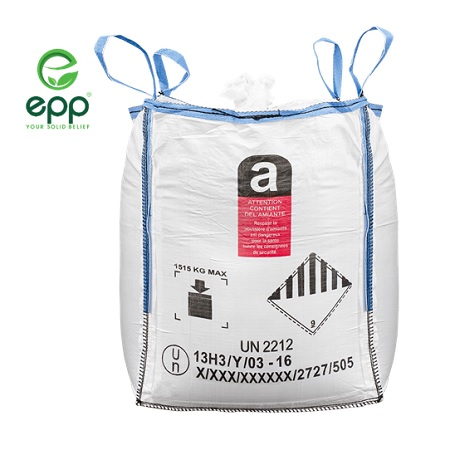 VN factory price EPP FIBC Baffled type UN FIBCs for Corrosive substances agriculture bags 1 ton 1.5 ton 2 ton UN container bags